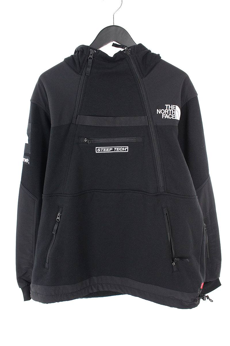 シュプリーム/SUPREME ×ノースフェイス/THE NORTH FACE 【16SS】【Steep Tech Hooded Sweatshirt】スウェットパーカージャケット(L/ブラック)【HJ12】【メンズ】【220181】【中古】bb99#rinkan*S