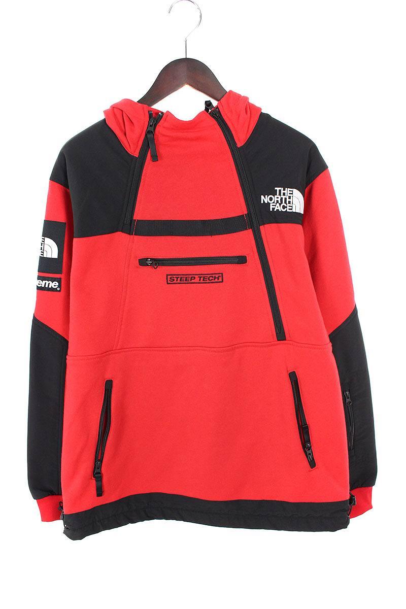 シュプリーム/SUPREME ×ノースフェイス/THE NORTH FACE 【16SS】【Steep Tech Hooded Sweatshirt】スウェットパーカージャケット(M/レッド)【HJ12】【メンズ】【220181】【中古】bb99#rinkan*S