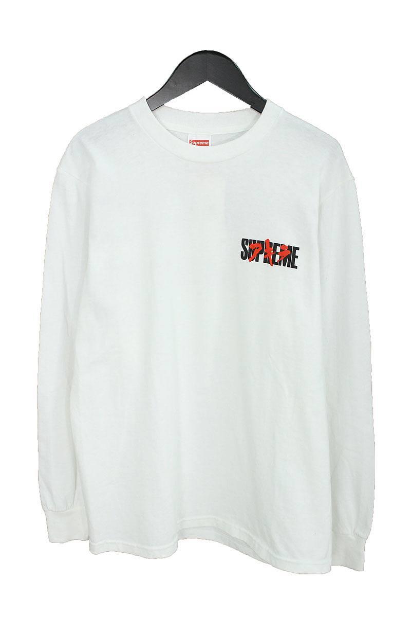 シュプリーム/SUPREME 【17AW】【Neo-Tokyo L/S Tee】×AKIRAプリントL/STシャツ(S/ホワイト)【NO05】【メンズ】【220181】【中古】[5倍]bb99#rinkan*S