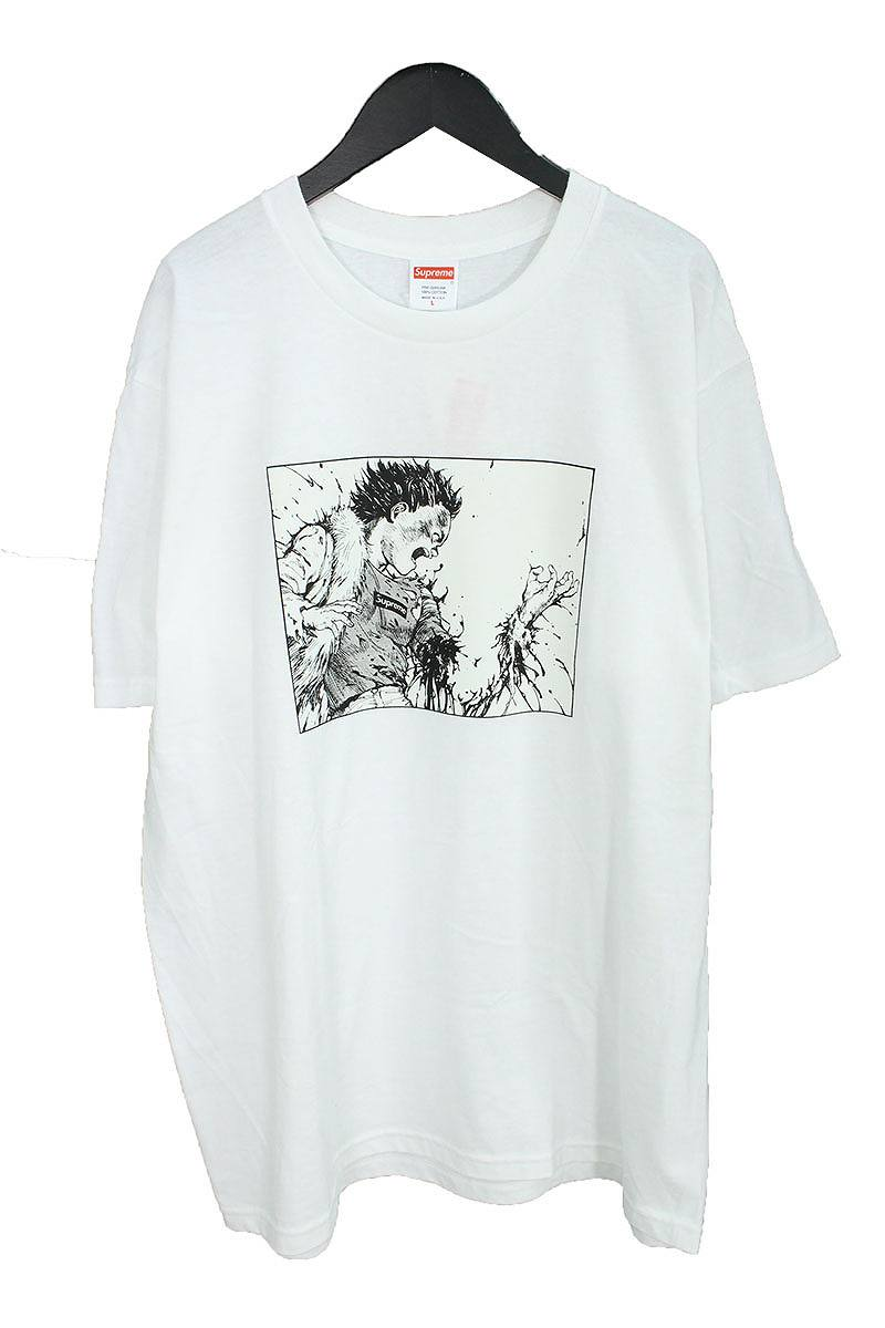 シュプリーム/SUPREME 【17AW】【Arm Tee】×AKIRAプリントTシャツ(L/ホワイト)【NO05】【メンズ】【220181】【中古】[5倍]bb99#rinkan*S