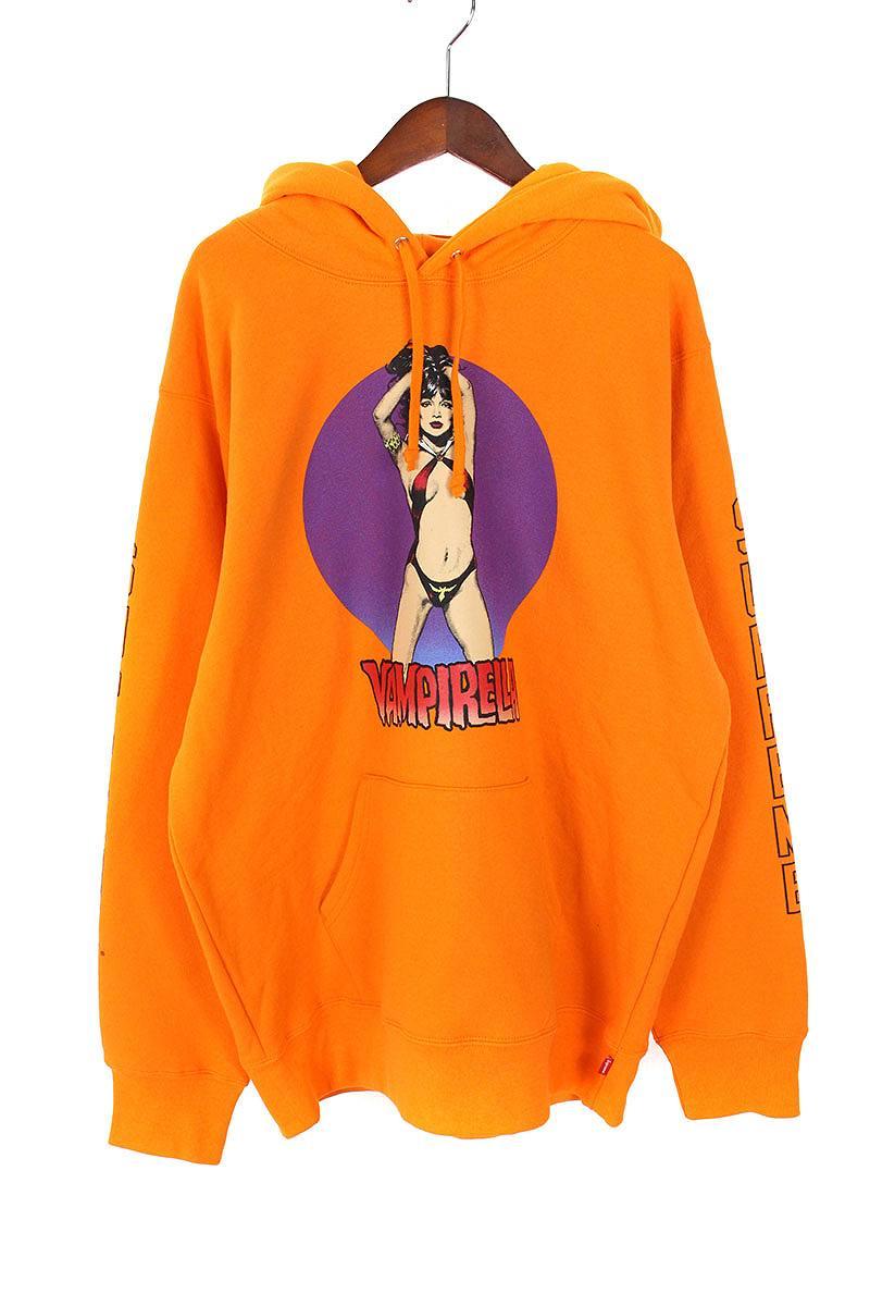 シュプリーム/SUPREME 【17SS】【Hooded Sweatshirt】×Vampirella プリントプルオーバーパーカー(L/オレンジ)【OM10】【メンズ】【220181】【中古】[5倍]bb99#rinkan*S