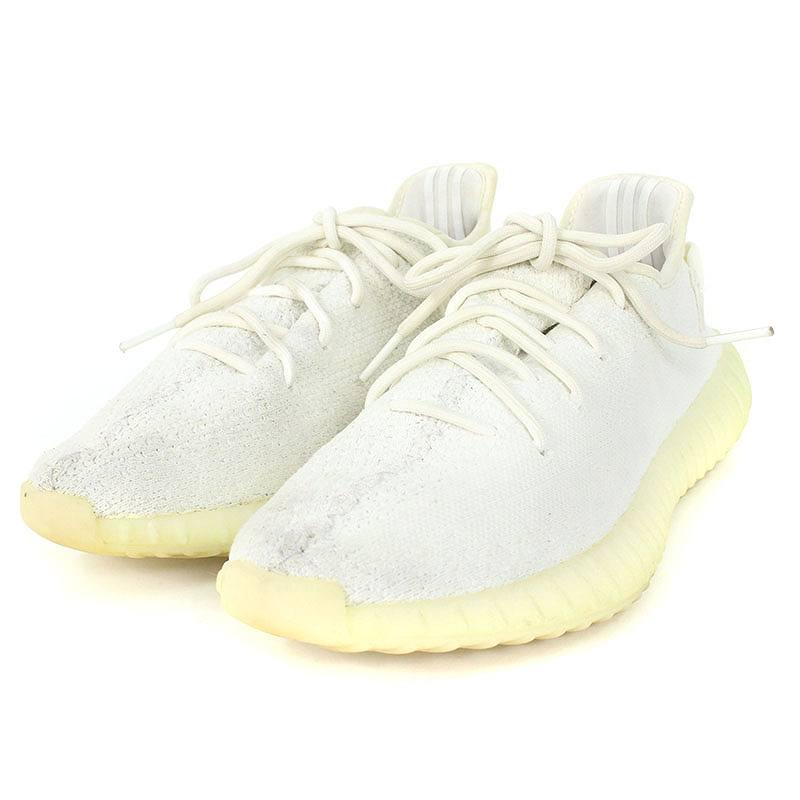 アディダス/adidas ×カニエウエスト 【YEEZY BOOST 350 V2 CREAM WHITE】【CP9366】ローカットスニーカー(27.5cm/ホワイト)【BS99】【メンズ】【小物】【101181】【中古】bb92#rinkan*C