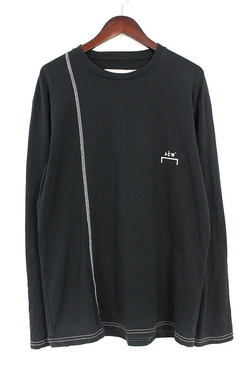 アコールドウォール/A-COLD-WALL 【constrast stitch longsleeved t-shirt】ロゴプリント長袖カットソー(M/ブラック)【FK04】【メンズ】【620181】【中古】【P】bb177#rinkan*B