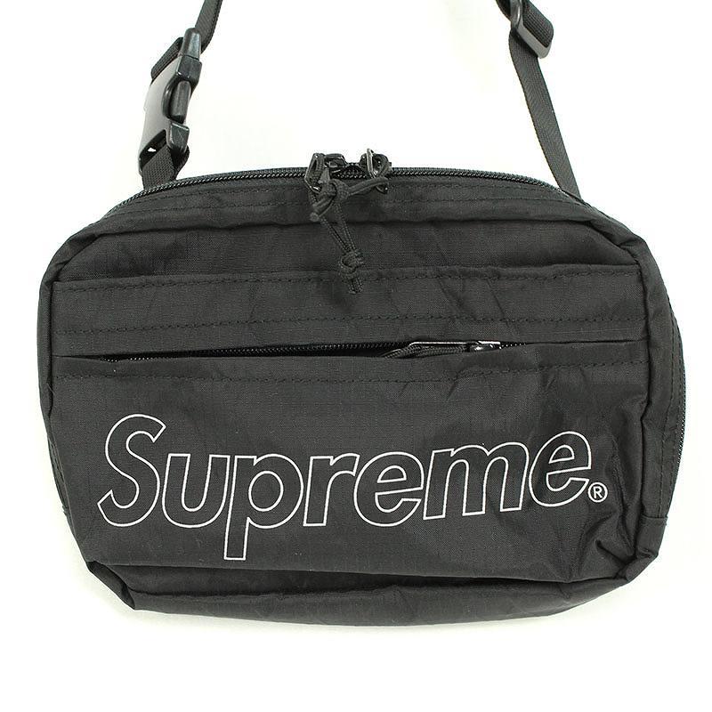 シュプリーム/SUPREME 【18AW】【Shoulder Bag】ボックスロゴナイロンショルダーバッグ(ブラック)【HJ12】【小物】【320181】【中古】bb131#rinkan*S