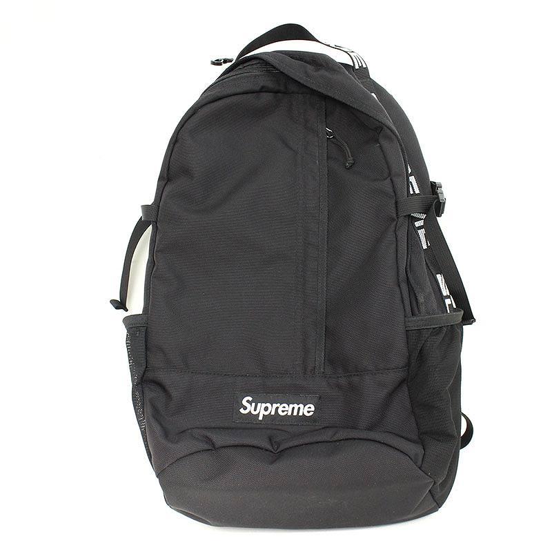 シュプリーム/SUPREME 【18SS】【Backpack】ボックスロゴナイロンバックパックバックパック(ブラック)【SB01】【小物】【320181】【中古】bb92#rinkan*B