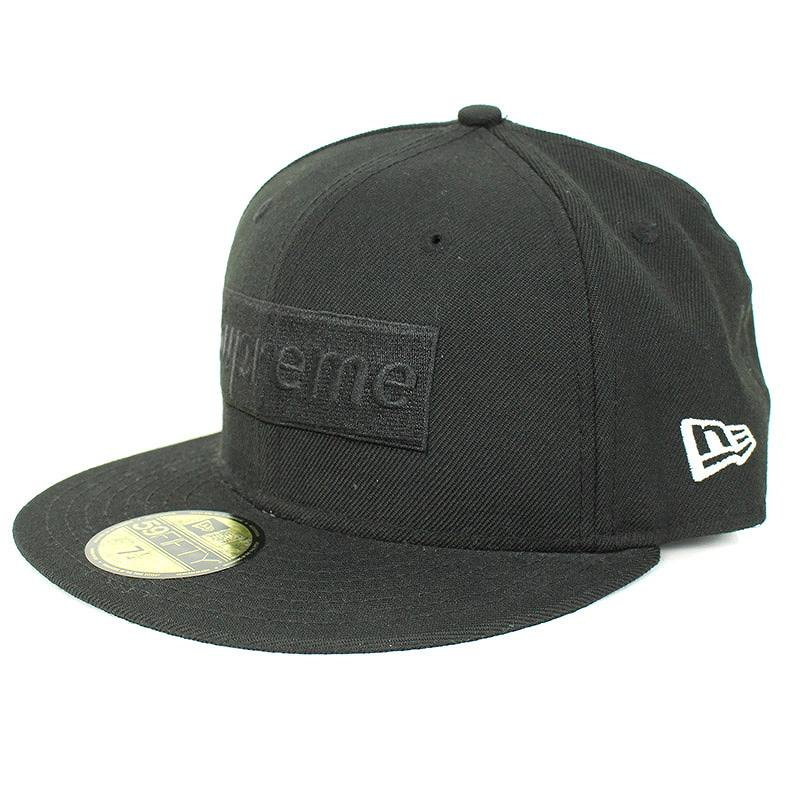 シュプリーム/SUPREME 【14AW】【Tonal Box Logo New Era Cap】ボックスロゴ刺繍キャップ(7 4/1/ブラック)【HJ12】【小物】【320181】【中古】bb15#rinkan*B