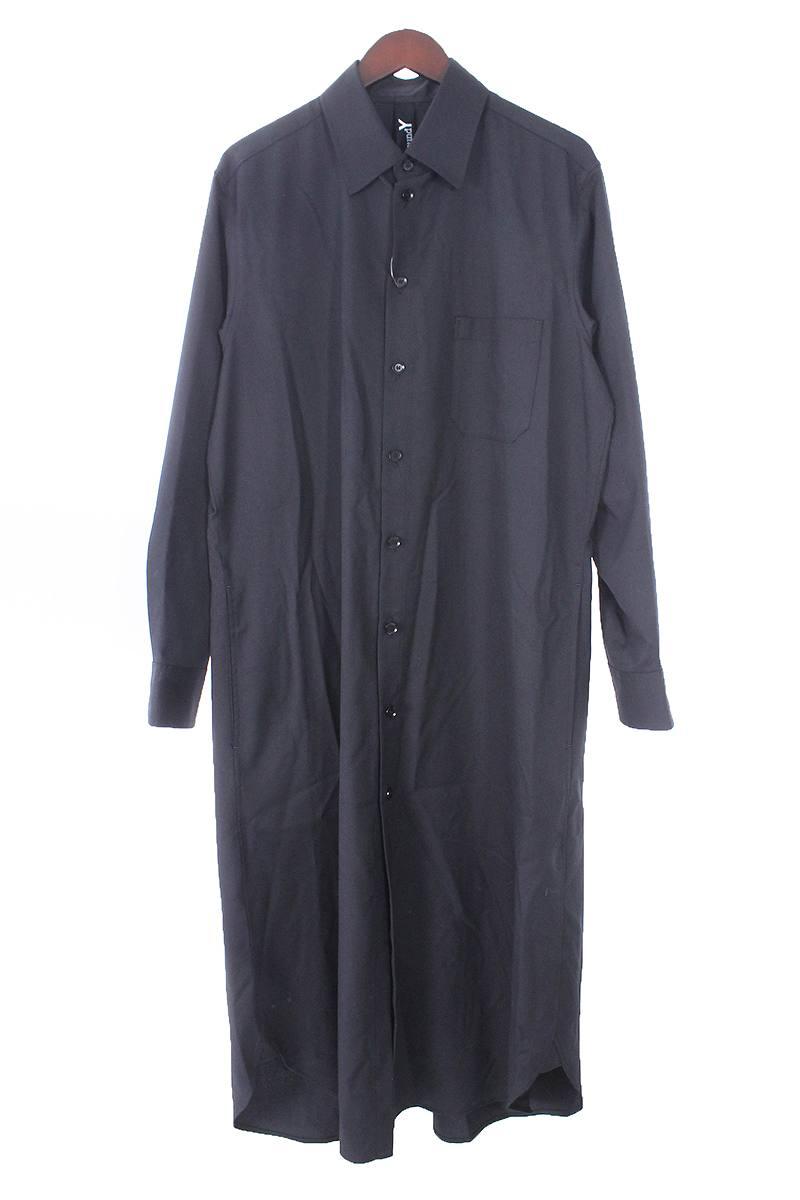 グランドワイ/GroundY 【18SS】【GW-B06-100/Long Shirt Dress Double Serge】ロングドレス長袖シャツ(S/ブラック)【BS99】【メンズ】【101181】【中古】[5倍]bb30#rinkan*S
