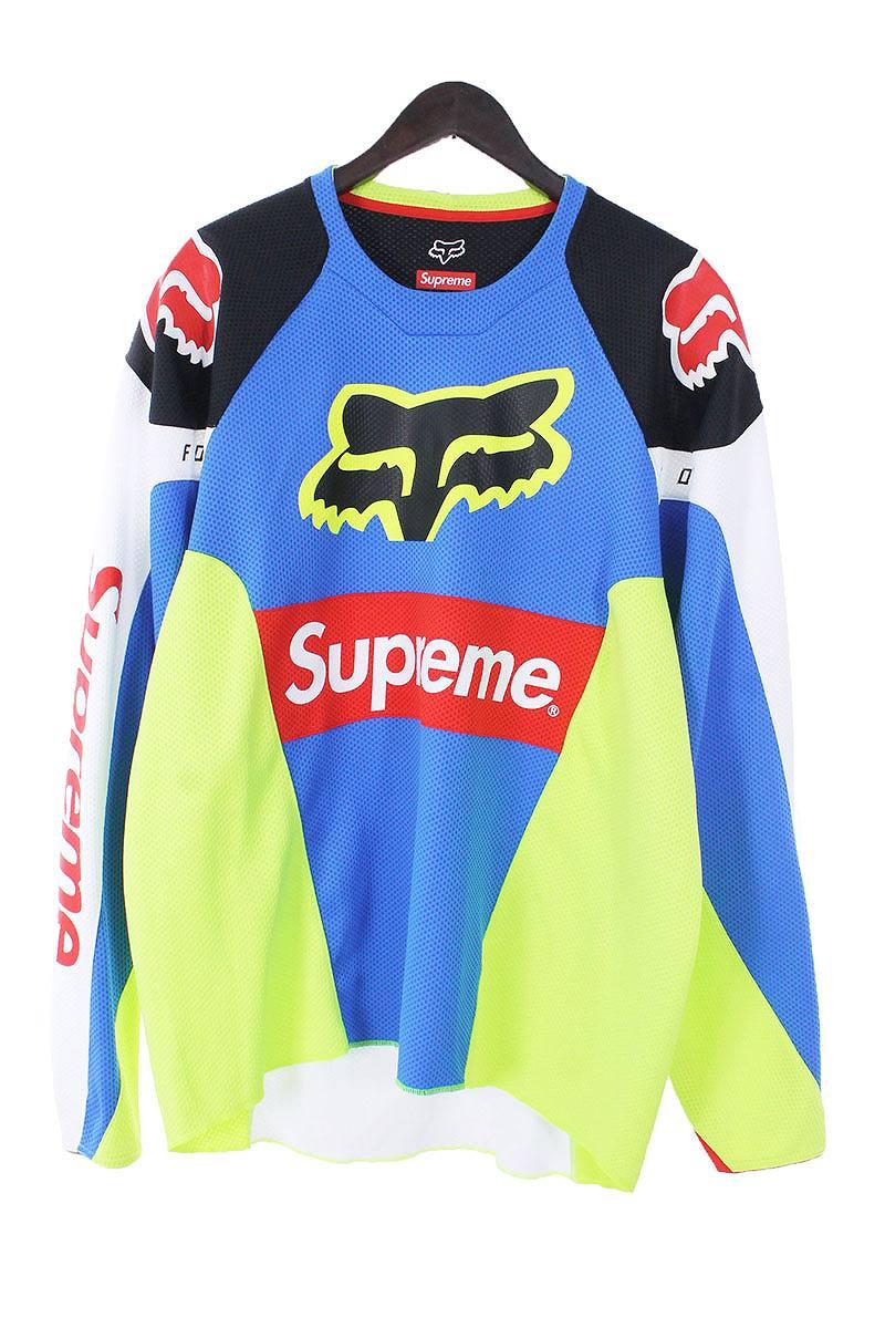 シュプリーム/SUPREME ×フォックス 【Moto Jersey Top】ダブルネームレーシングスーツ長袖カットソー長袖カットソー(L/ブルー×レッド×ホワイト×ブラック)【HJ12】【メンズ】【420181】【中古】[5倍]bb15#rinkan*B