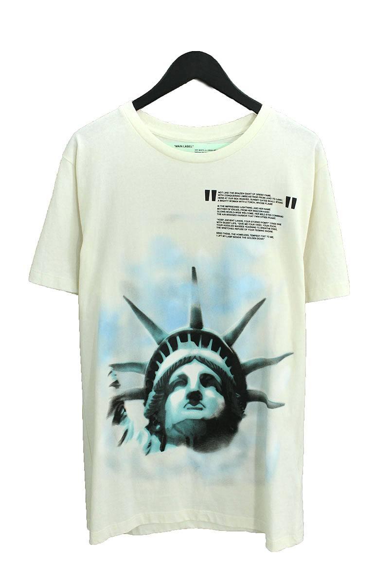 オフホワイト/OFF-WHITE 【18AW】【Liberty T-Shirt】リバティプリントオーバーサイズTシャツ(M/ホワイト)【OM10】【メンズ】【620181】【中古】bb30#rinkan*B