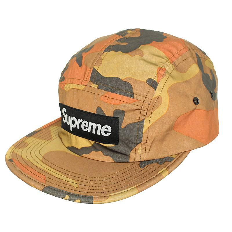 シュプリーム/SUPREME 【18AW】【Reflective Camo Camp Cap】リフレクターカモフラキャップ(オレンジ調)【HJ12】【小物】【520181】【中古】bb177#rinkan*S