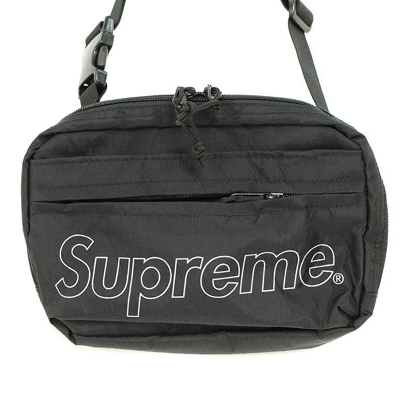シュプリーム/SUPREME 【18AW】【Shoulder Bag】ボックスロゴナイロンショルダーバッグ(ブラック)【OS06】【小物】【101181】【中古】bb143#rinkan*S