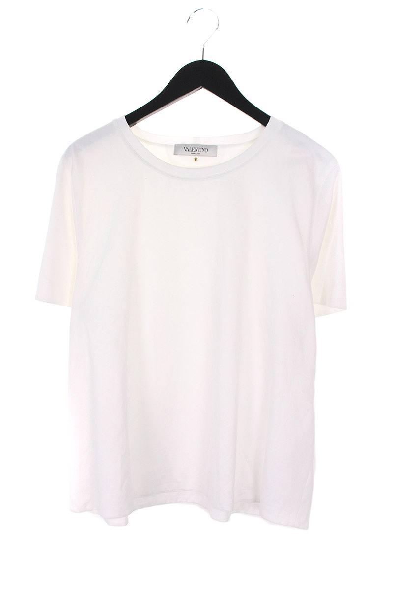 ヴァレンティノ/VALENTINO 【ロックスタッズ】スタッズデザインダブルフェイスTシャツ(XL/ホワイト)【BS99】【メンズ】【101181】【中古】【P】bb127#rinkan*B