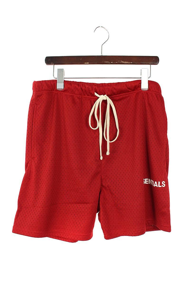 フォグ/FOG 【18AW】【ESSENTIALS Graphic Mesh Drawstring Shorts】ドローコードメッシュショートパンツ(M/レッド)【HJ12】【メンズ】【920181】【中古】[5倍][5倍]bb51#rinkan*S