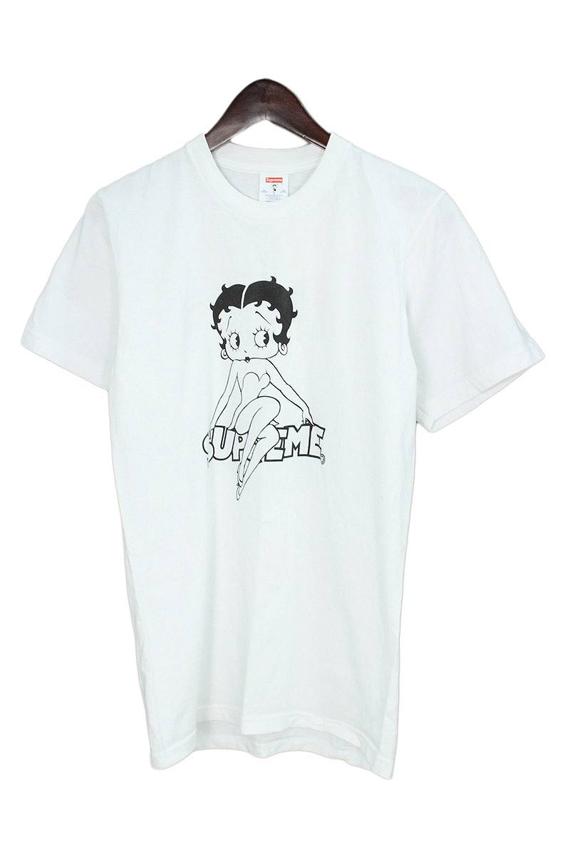 シュプリーム/SUPREME 【16SS】【Betty Boop Tee】ベティプリントTシャツ(S/ホワイト)【OM10】【メンズ】【101181】【中古】[5倍]bb188#rinkan*B