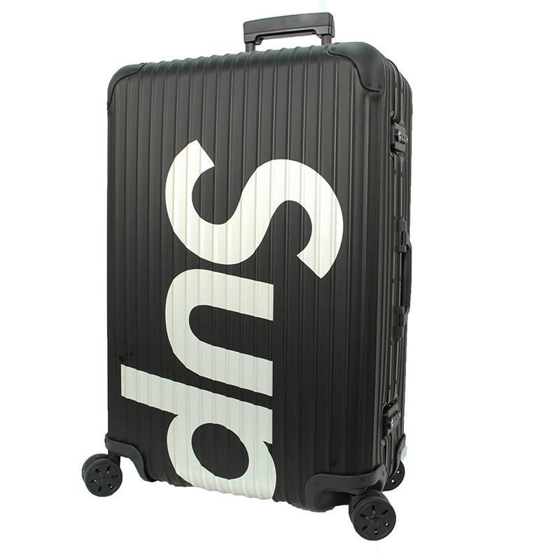 シュプリーム/SUPREME ×リモワ/RIMOWA 【18SS】【Topas Multiwheel 82L】トパーズマルチウィールキャリーケース(ブラック)【OM10】【小物】【201181】【中古】bb76#rinkan*S