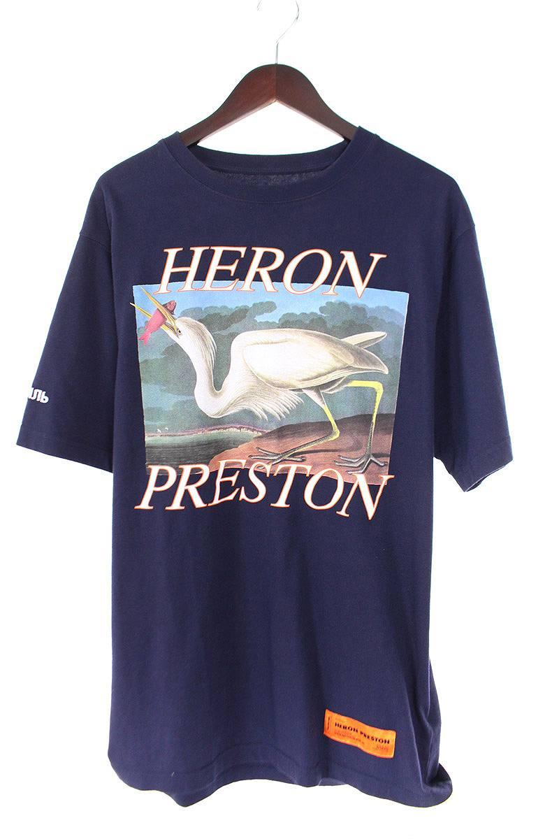 ヘロンプレストン/HERON PRESTON 【18SS】【HMAA001S18632014】ロゴバードプリントTシャツ(XS/ネイビー)【SB01】【メンズ】【101181】【中古】[5倍]bb212#rinkan*B