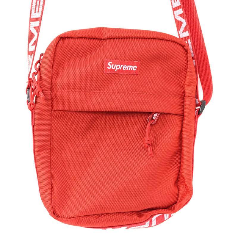 シュプリーム/SUPREME 【18SS】【Shoulder Bag】ボックスロゴナイロンショルダーバッグ(レッド)【SB01】【小物】【201181】【中古】bb154#rinkan*S