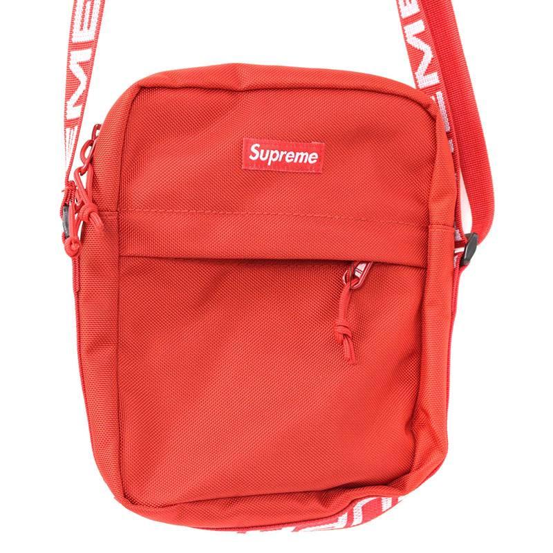 シュプリーム/SUPREME 【18SS】【Shoulder Bag】ボックスロゴナイロンショルダーバッグ(レッド)【SJ02】【小物】【201181】【中古】bb154#rinkan*S