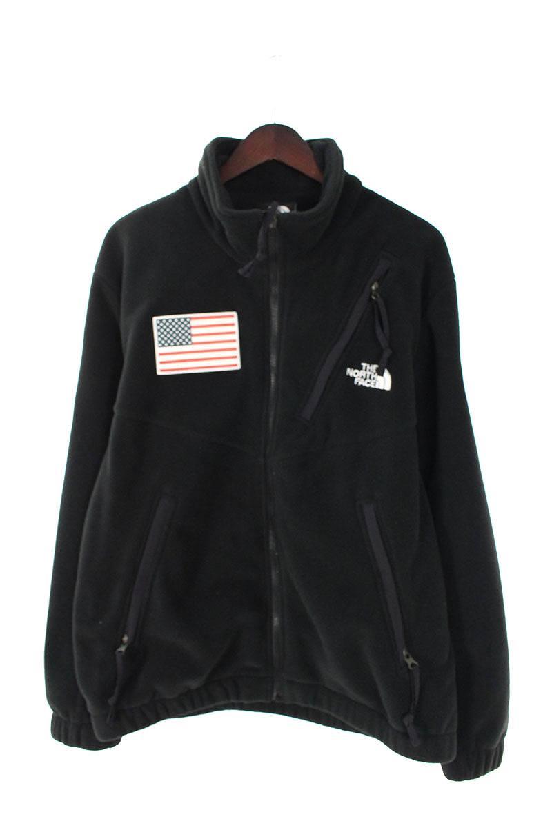 シュプリーム/SUPREME ×ノースフェイス/THE NORTH FACE 【17SS】【Trans Antarctica Expedition Fleece Jacket】アメリカンフラッグフリースジャケット(M/ブラック)【FK04】【メンズ】【601181】【中古】bb177#rinkan*S