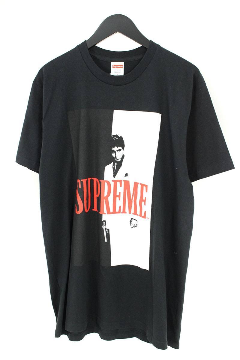 シュプリーム/SUPREME ×スカーフェイス 【17AW】【Scarface Split Tee】スプリットTシャツ(L/ブラック)【OM10】【メンズ】【011181】【中古】【準新入荷】[5倍]bb154#rinkan*B