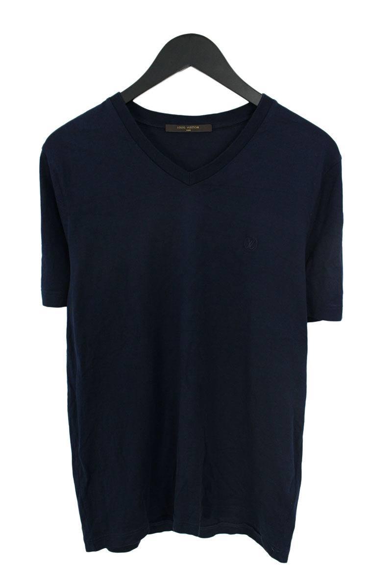 ルイヴィトン/LOUISVUITTON 【16AW】【RM162Q】LVサークル刺繍Tシャツ(L/ネイビー)【SB01】【メンズ】【601181】【中古】【P】bb51#rinkan*B