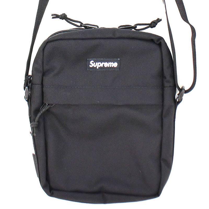 シュプリーム/SUPREME 【18SS】【Shoulder Bag】ボックスロゴナイロンショルダーバッグ(ブラック)【SB01】【小物】【601181】【中古】bb212#rinkan*B