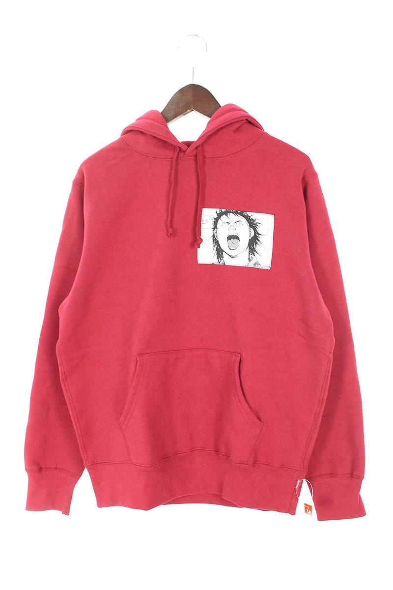 シュプリーム/SUPREME ×アキラ 【17AW】【Patches Hooded Sweatshirt】×AKIRA パッチデザインプルオーバーパーカー(S/ボルドー)【SB01】【メンズ】【901181】【中古】【準新入荷】[5倍]bb229#rinkan*S