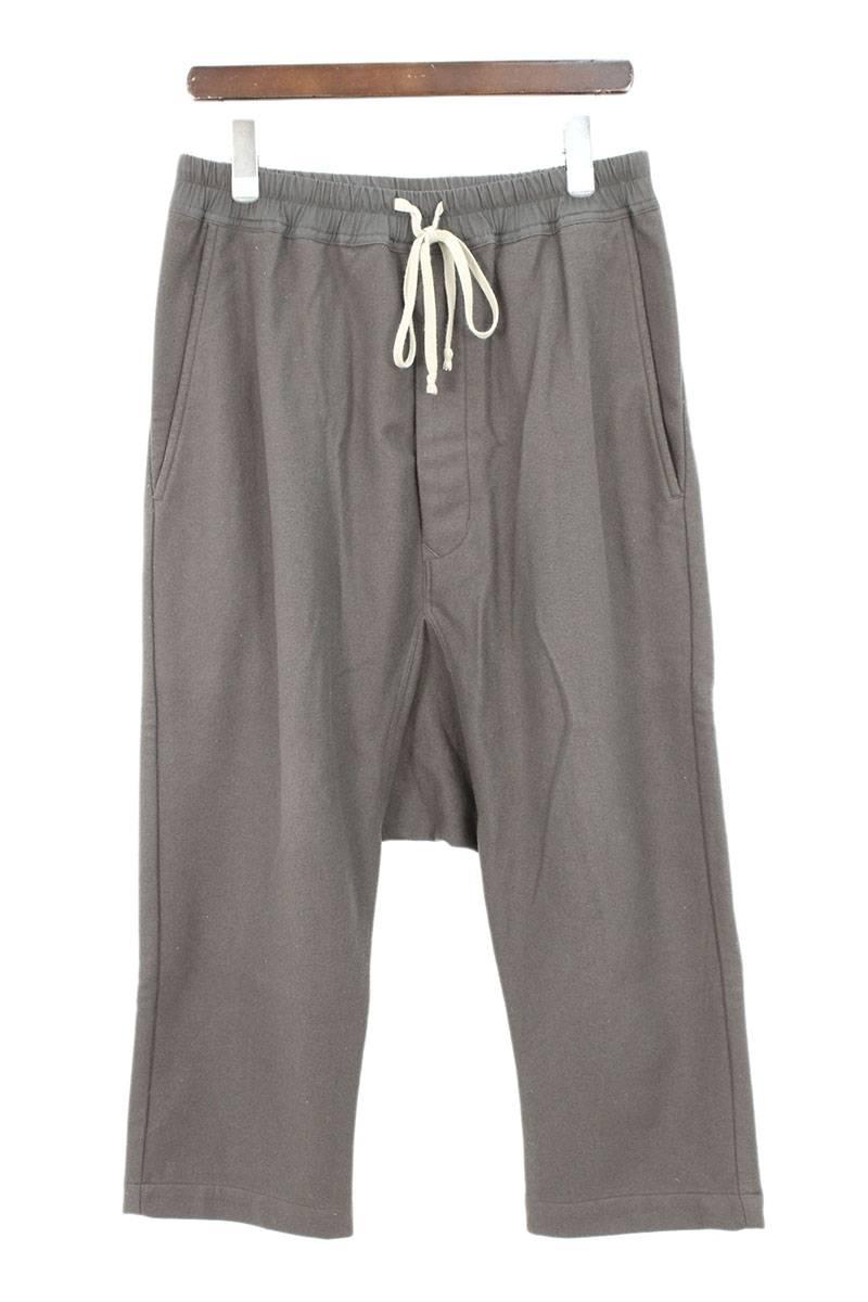 リックオウエンス/Rick Owens 【Drawstring cropped trousers】ドローコードサルエルロングパンツ(48/チャコールグレー)【SB01】【メンズ】【111181】【中古】【準新入荷】[5倍][5倍]bb164#rinkan*B