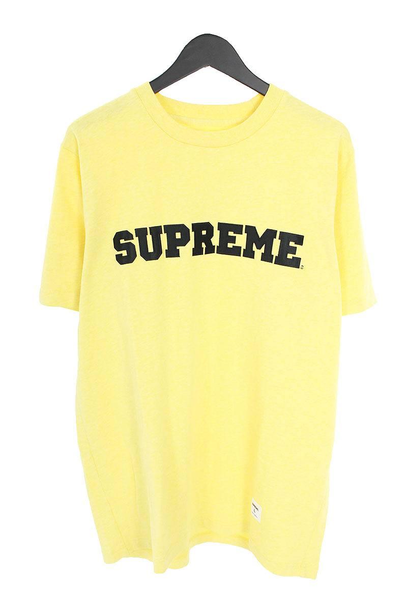 シュプリーム/SUPREME 【17SS】【Collegiate Logo Tee】カレッジロゴワッペンTシャツ(L/イエロー)【HJ12】【メンズ】【211181】【中古】【準新入荷】[5倍]bb169#rinkan*A