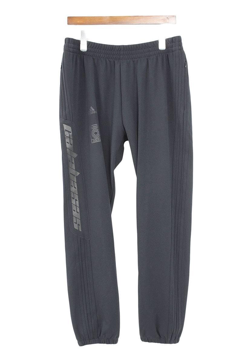 イージー/YEEZY 【CALABASAS TRACK PANTS】サイドロゴロングパンツ(M/ブラック)【HJ12】【メンズ】【411181】【中古】bb182#rinkan*B