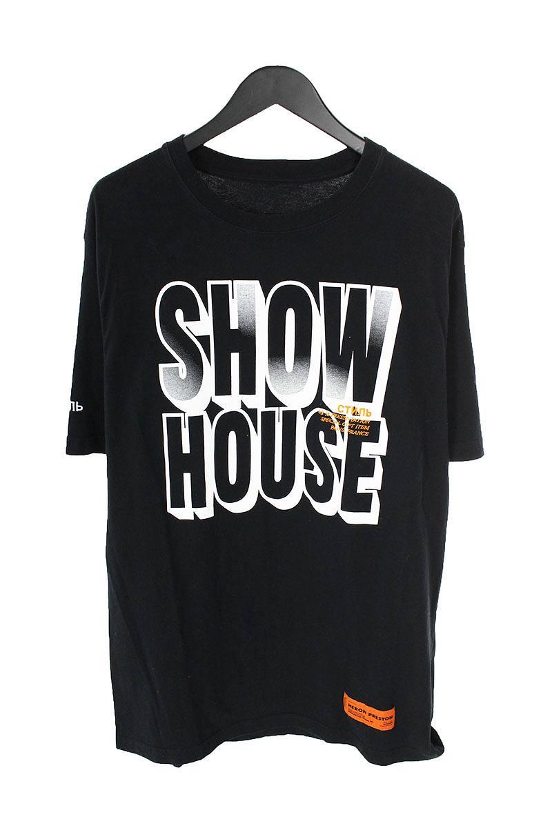 ヘロンプレストン/HERON PRESTON 【18SS】【SHOW HOUSE T-SHIRT】英字プリントクルーネックTシャツ(S/ブラック)【FK04】【メンズ】【911181】【中古】bb177#rinkan*B