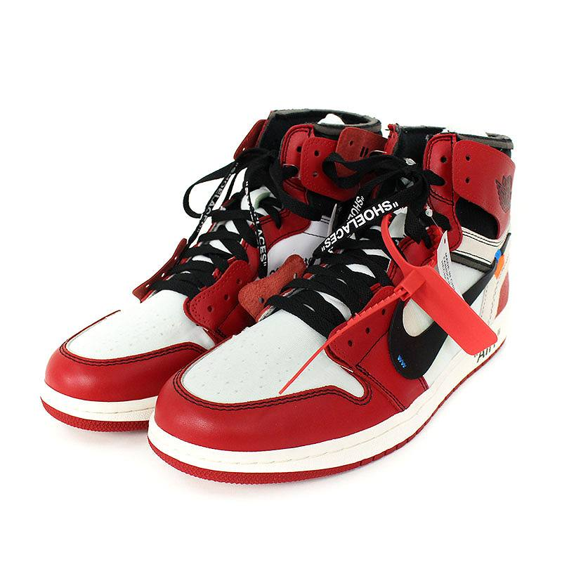check out 90546 23a0f Nike /NIKE X off-white /OFF-WHITE Air Jordan 1 sneakers (28cm/ red X white)  bb177#rinkan*S