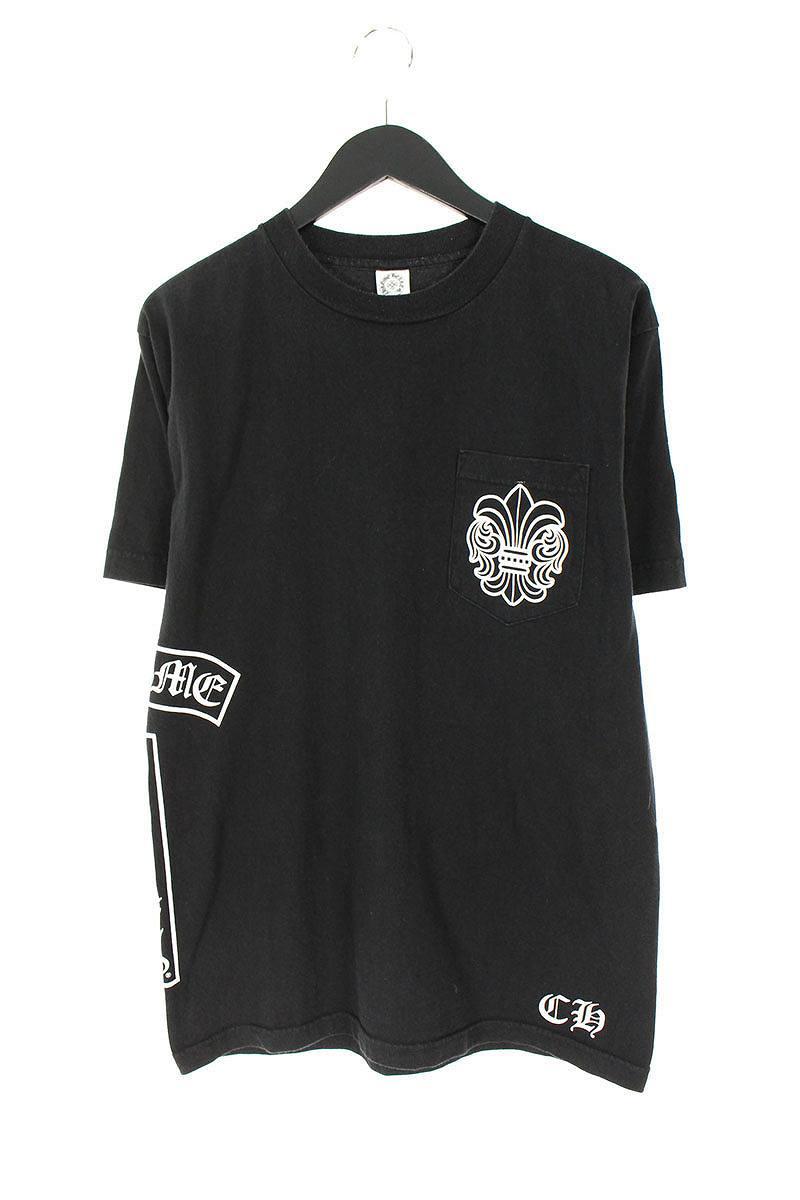 クロムハーツ/Chrome Hearts BSフレアロゴプリント胸ポケットTシャツ(M/ブラック)【BS99】【メンズ】【102181】【中古】bb211#rinkan*C