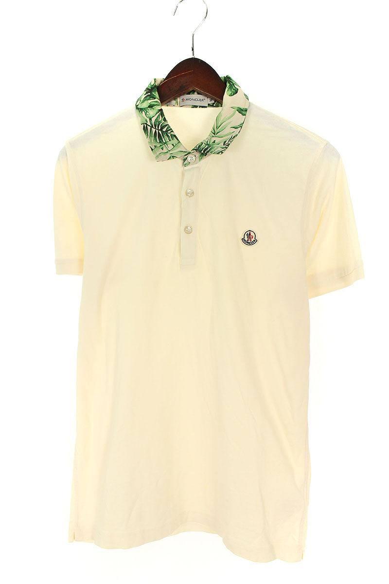 4c2544014 Monk rail /MONCLER SlimFit ボタニカルカラー reshuffling short sleeves polo shirt  (M/ off-white) [less]bb51#rinkan*B