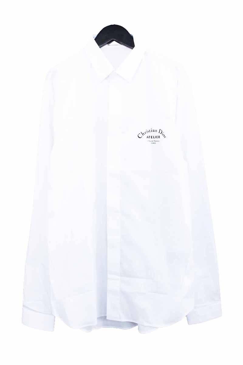 the latest 9657f bb6aa ディオールオム/Dior HOMME  【18AW】【433C529I2635】アトリエロゴプリント長袖シャツ(39/ホワイト)【SB01】【メンズ】【521181】【新古品】bb20#rinkan*N|RINKAN