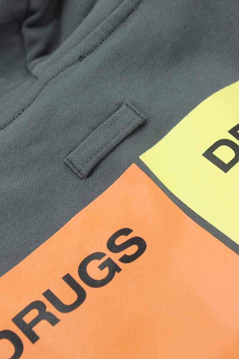 b7a05806 ラフシモンズ/RAF SIMONS 【18AW】【Classic hoodie Drugs】ドラッグスプリントオーバーサイズプルオーバーパーカー(M/グレー調)【SB01】【メンズ】【521181】【新古  ...