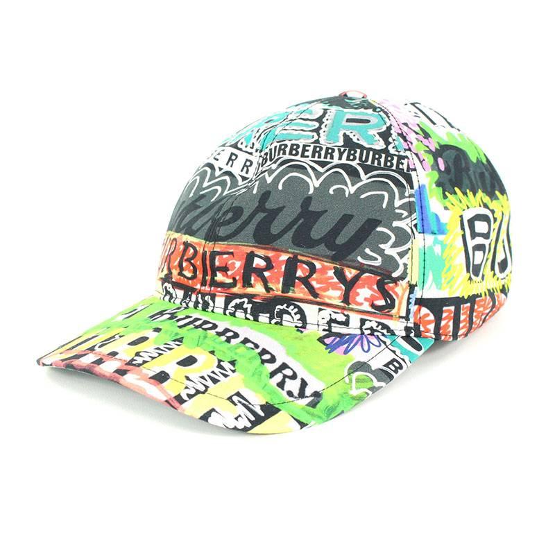 RINKAN  Burberry  Burberry multi-logo print baseball cap (M  green X ... 19899376793