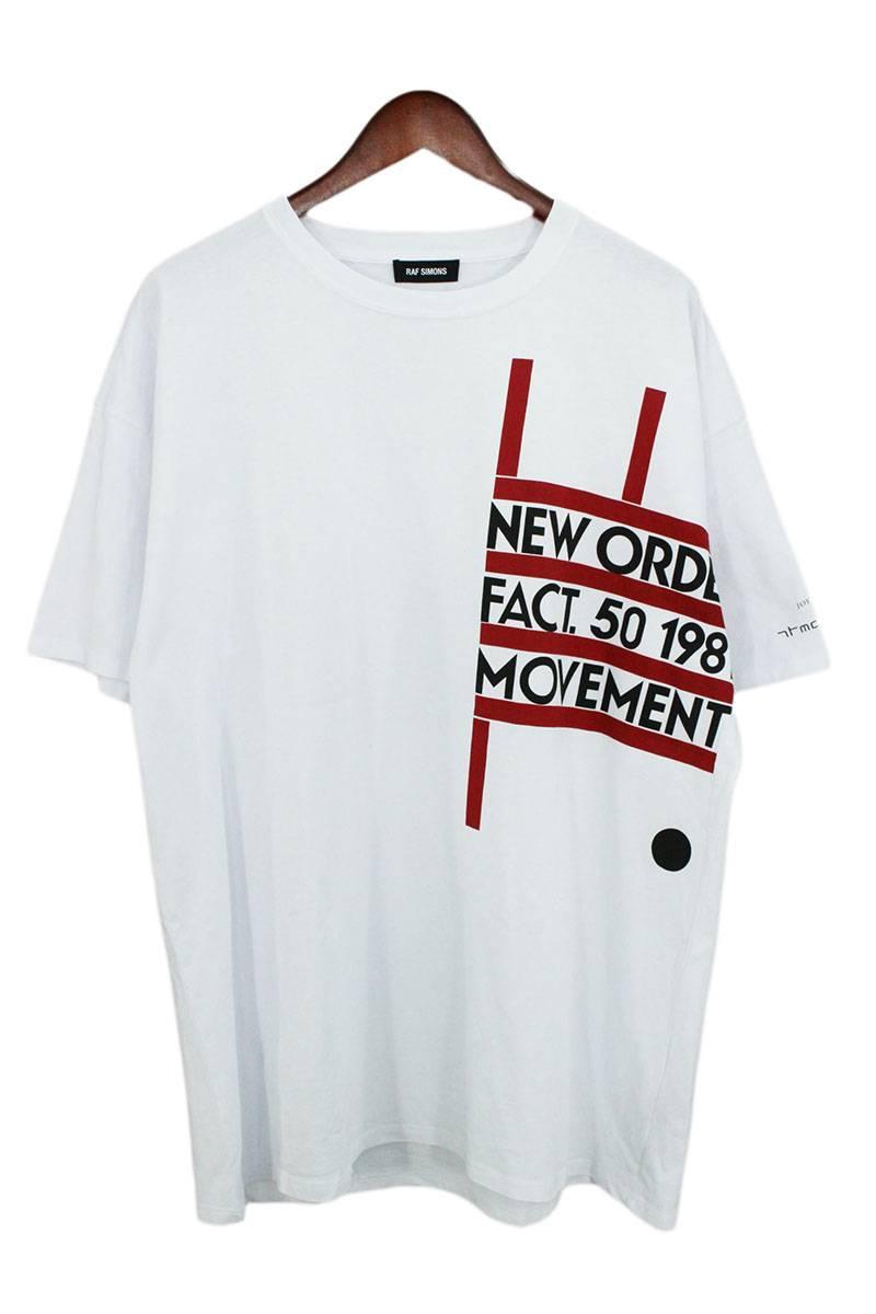 ラフシモンズ/RAF SIMONS 【18SS】バックローズプリントオーバーサイズTシャツ(L/ホワイト)【SB01】【メンズ】【421181】【中古】bb14#rinkan*B