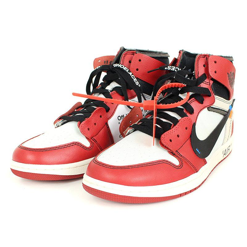 first rate 48e59 888d0 Nike /NIKE X off-white /OFF-WHITE Air Jordan 1 sneakers (27.5cm/ red X  white) bb223#rinkan*S