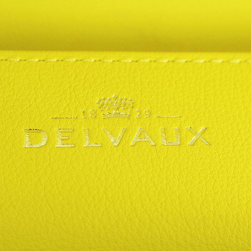 42f098510cd7 ... デルボー/DELVAUX【MadamePochette】レザーポシェットクラッチバッグ(イエロー×ゴールド)【 ...