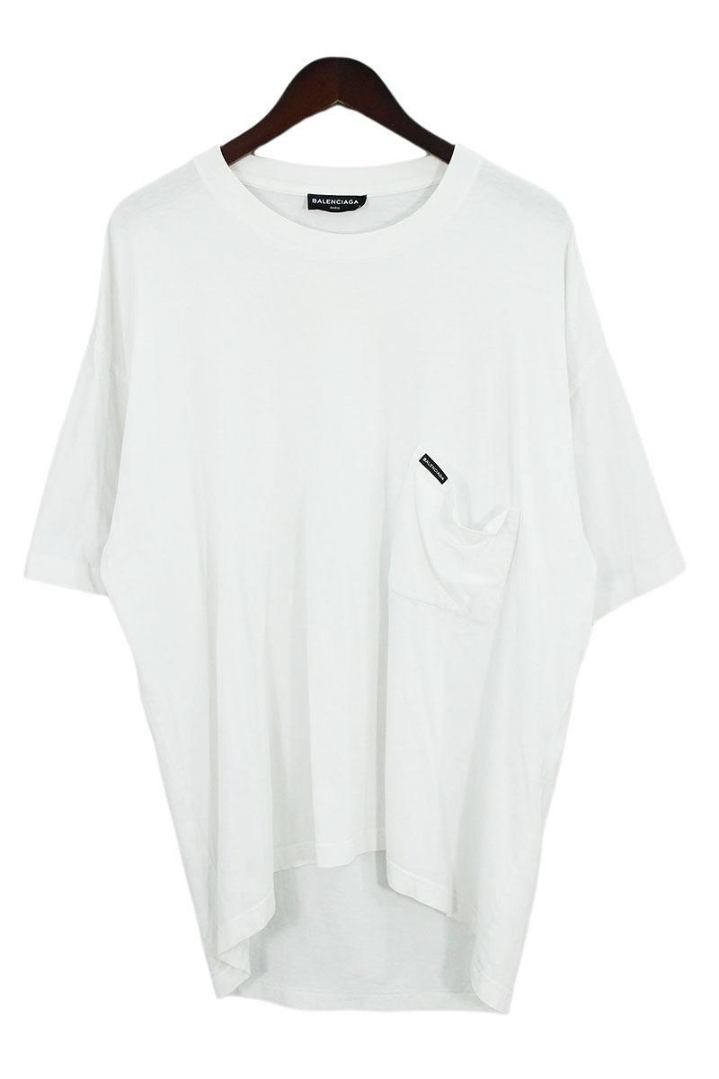 バレンシアガ/BALENCIAGA 【18SS】【508218 TYK67】EuropeプリントTシャツ(S/ホワイト)【OM10】【メンズ】【302181】【中古】bb217#rinkan*B