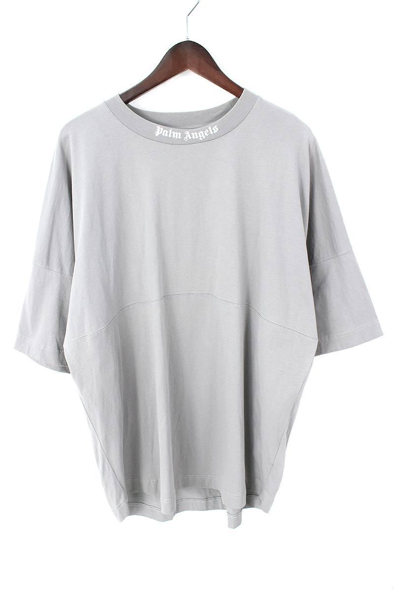 パームエンジェルス/PALM ANGELS 【17AW】バックプリントオーバサイズTシャツ(L/グレー)【BS99】【メンズ】【101091】【中古】bb212#rinkan*B