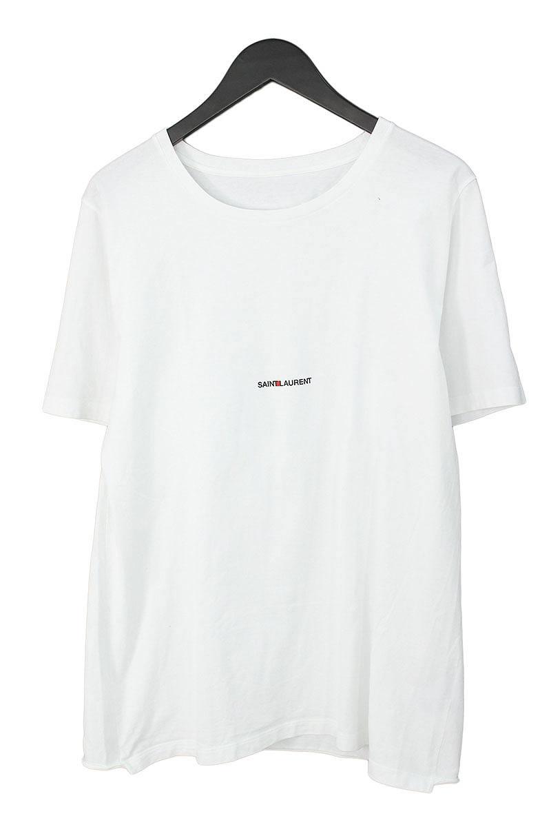 サンローランパリ/SAINT LAURENT PARIS 【17SS】【464572 YB1EN】クラシックロゴプリントTシャツ(XL/ホワイト)【SB01】【メンズ】【402181】【中古】bb15#rinkan*A