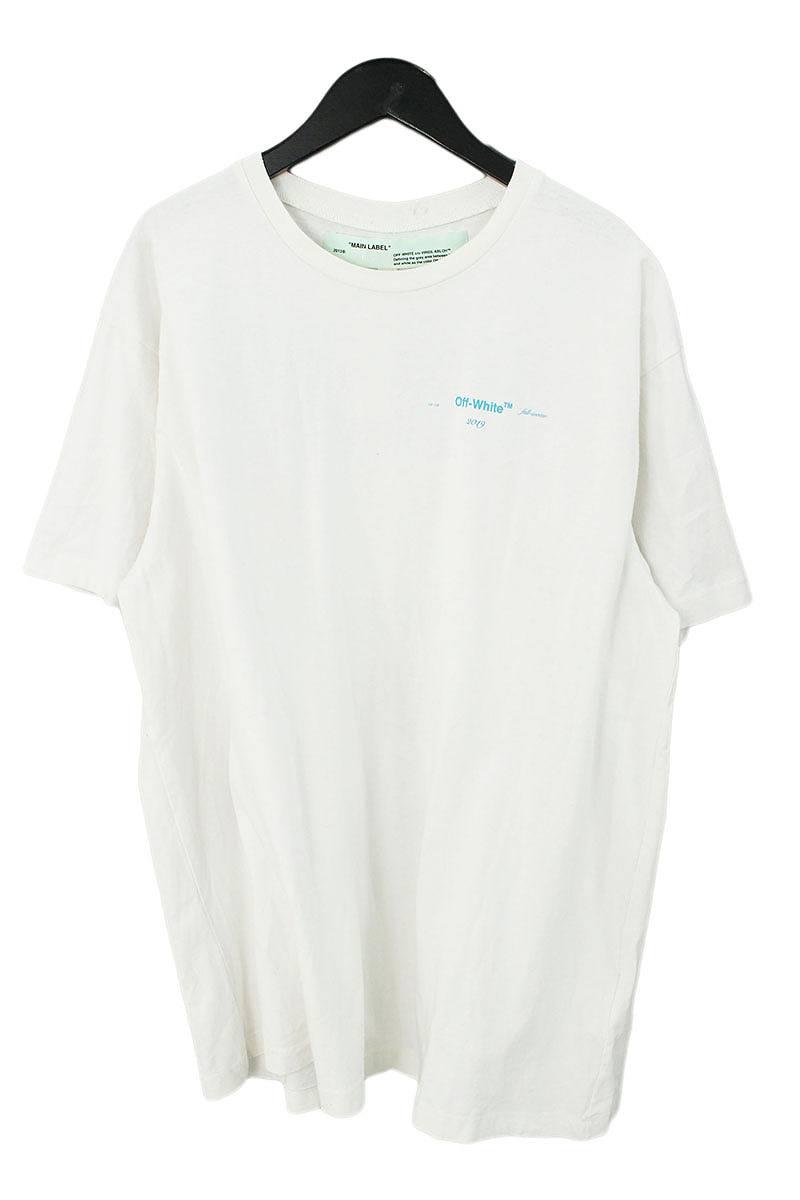 オフホワイト/OFF-WHITE 【18AW】【OMAA038F181850050288】ダイアゴナルグラディエントプリントTシャツ(XS/ホワイト)【HJ12】【メンズ】【502181】【中古】bb127#rinkan*B