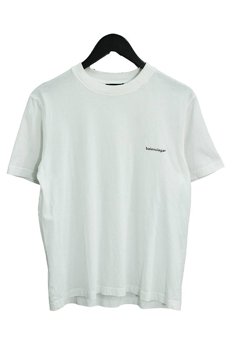 バレンシアガ/BALENCIAGA 【17AW】【485978 TMK36】チェストミニロゴTシャツ(S/ホワイト)【BS99】【メンズ】【101091】【中古】bb30#rinkan*C