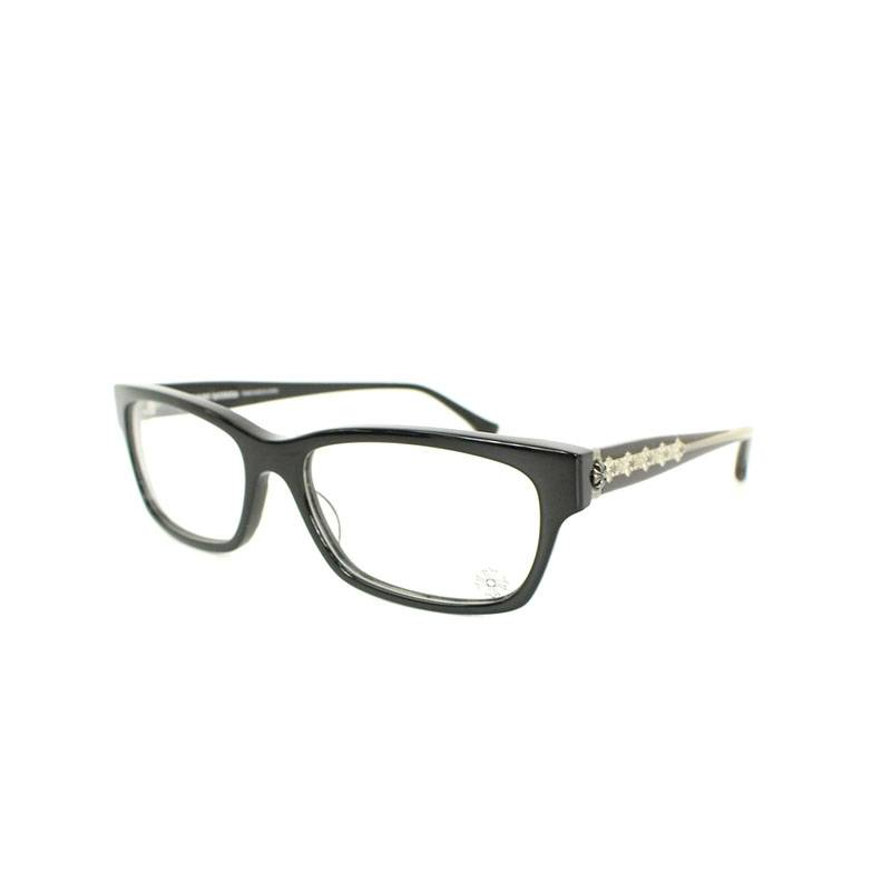 クロムハーツ/Chrome Hearts 【DROP BOX】CHプラステンプルウェリントン眼鏡((フレーム)ブラック×シルバー)【SJ02】【小物】【802181】【中古】bb202#rinkan*B