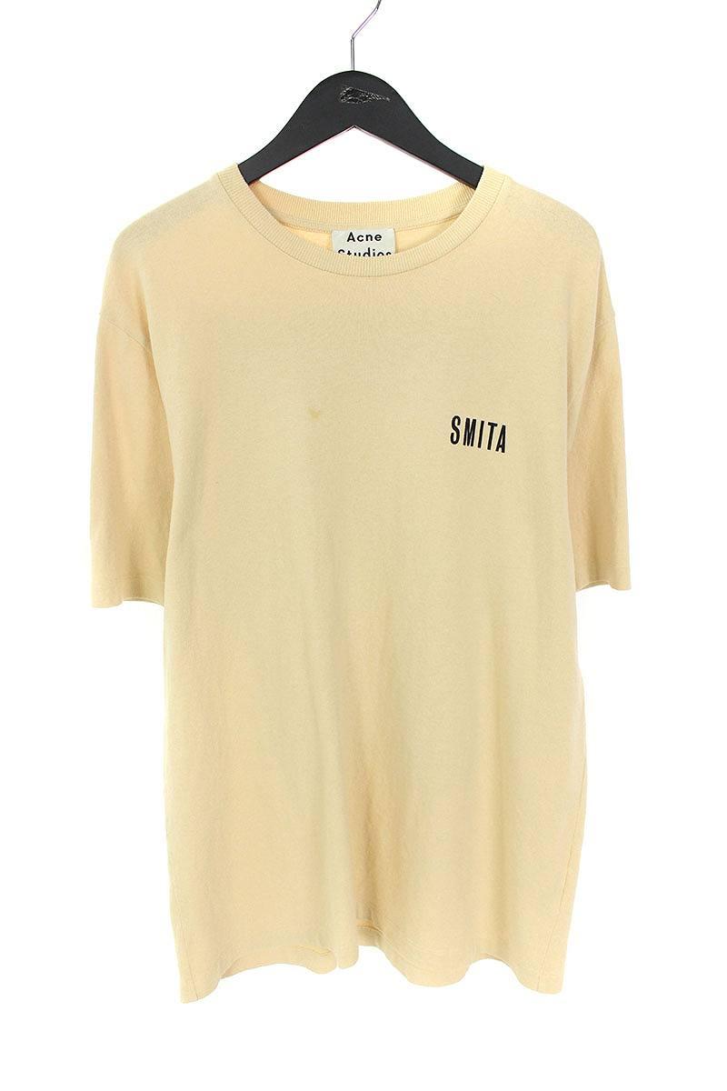 アクネストゥディオズ/ACNE STUDIOS 【18SS】【JACEYE PRINT】バックプリントTシャツ(L/ベージュ)【BS99】【メンズ】【712181】【中古】bb15#rinkan*B