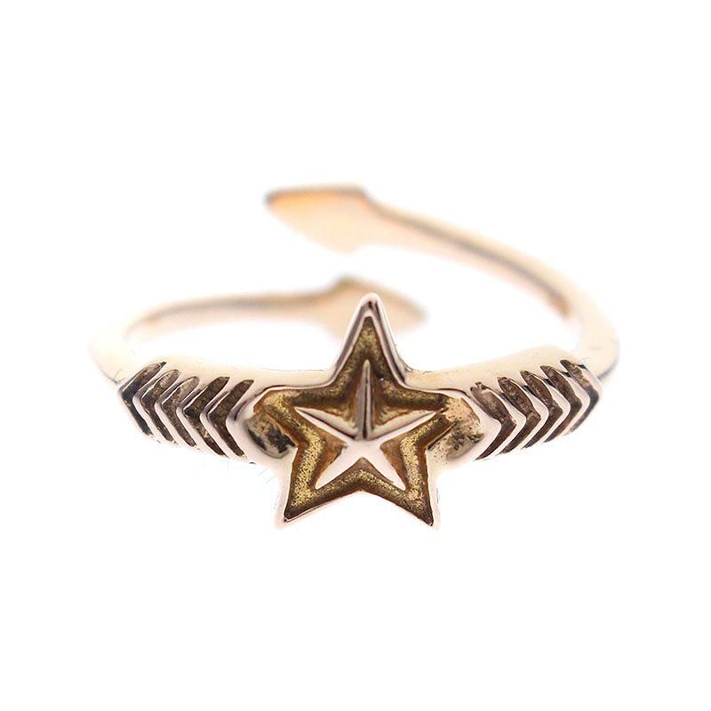 コディーサンダーソン/CODY SANDERSON 【Double Arrow Small Star 18K Gold】ダブルアロースモールスターゴールドリング(9号/ローズゴールド/2.97g)【HJ08】【小物】【012181】【中古】bb75#rinkan*B