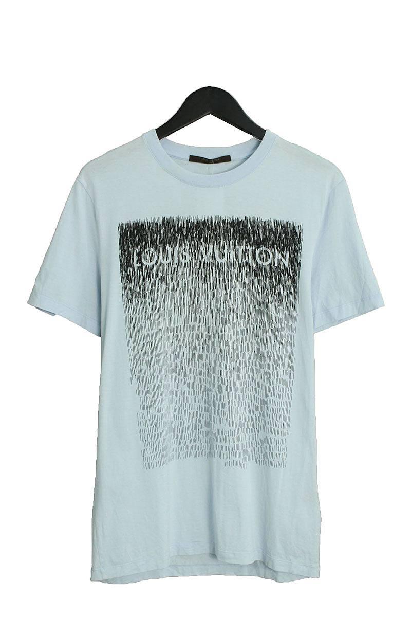 ルイヴィトン/LOUISVUITTON 【RM121M H1JR14JFZ】ノイズプリントTシャツ(S/ライトブルー)【BS99】【メンズ】【912181】【中古】【P】bb10#rinkan*C