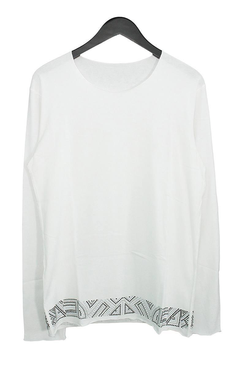 ルシアンペラフィネ/lucien pellat-finet メタルスタッズスカル長袖カットソー(M/ホワイト)【BS99】【メンズ】【101091】【中古】bb51#rinkan*A